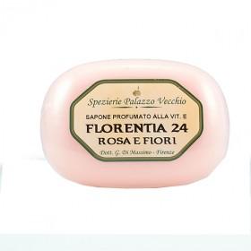 FLORENTIA 24 ROSA E FIORI - Saponi Profumati alla Vitamina E